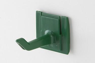 Крючки для инвентаря, упаковка 3 шт. зеленый (цветовая кадировка)