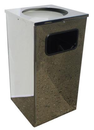 Контейнеры для мусора 80л. хром (Уника.Квадро)