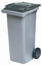 Контейнер для мусора 120л. (сер/т.сер) Merida