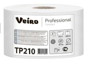 Veiro Professional comfort туалетная бумага 2сл.215 м(1уп/6рул) с центральной вытяжкой