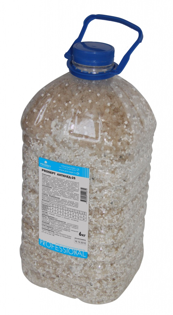Антигололёдный реагент Антилёд -25, 6 кг Prosept