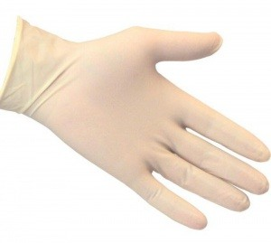 Перчатки одноразовые латексные L (1уп/100шт.)