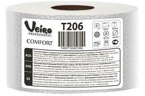 Veiro Professional comfort туалетная бумага 2сл 170м(1уп/12рул)