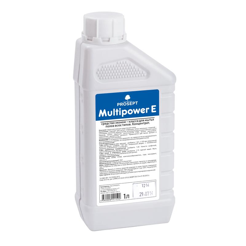 Multipower E 1 л. Концентрат эконом класса для мытья полов  Prosept