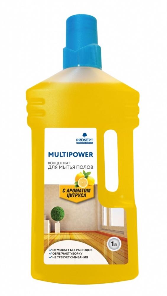 Multipower E (цитрус) 1 л. Концентрат эконом класса для мытья полов  Prosept