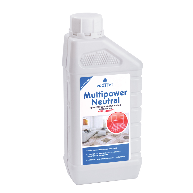 Multipower Neutral 1 л. Средство для мытья полов всех типов Prosept