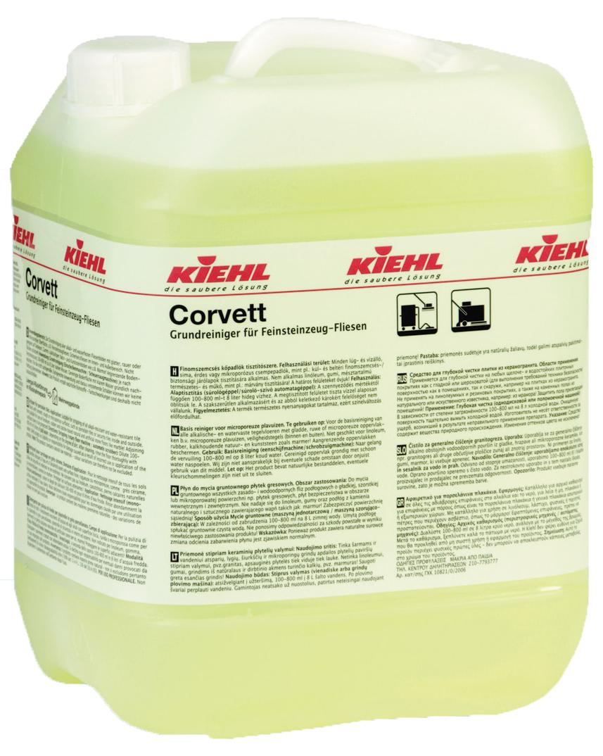 Corvett 10 л. Средство для глубокой чистки плитки из керамогранита  Kiehl