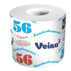 Veiro Professional туалетная бумага бытовая 1сл 56м(1уп/72рул)