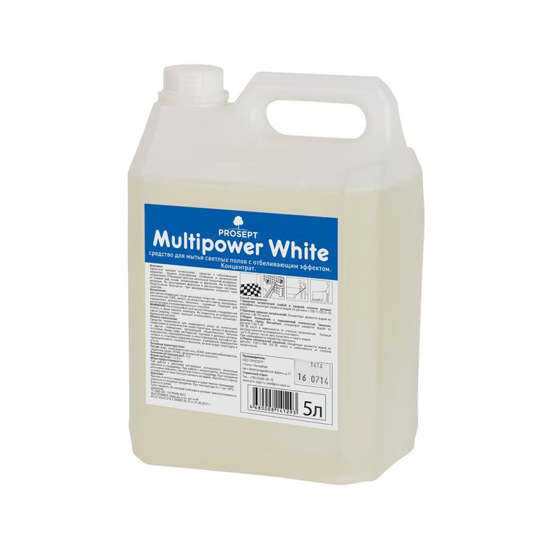 Multipower White 5 л. Средство для мытья светлых полов  Prosept