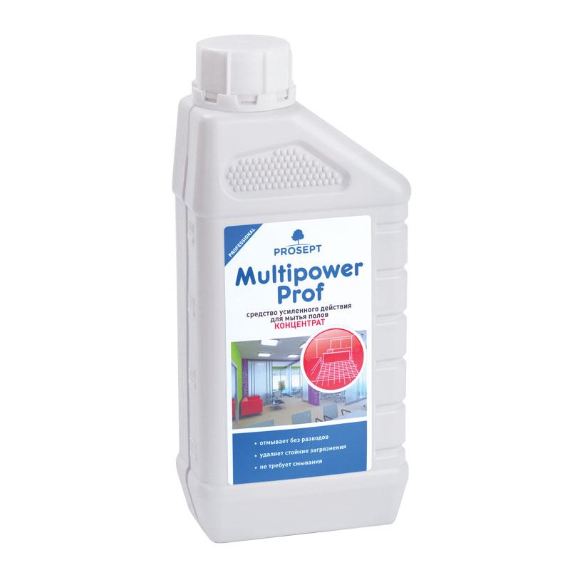 Multipower Prof 1 л.  Средство усиленного действия для мытья напольных покрытий Prosept